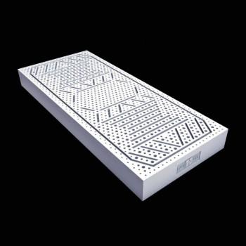 Un colchón y una plaza de mitad 7 Zona 100% PureLatex Látex