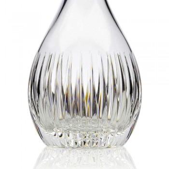 2 Botellas de Vino de Cristal Ecológico Molido a Mano Lujo Italiano - Desire