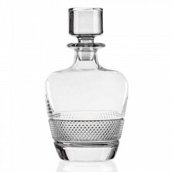 2 Botellas de Whisky Decoradas en Cristal Ecológico Elegante Diseño - Milito