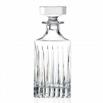 2 botellas de whisky de cristal con molienda manual Made in Italy - Voglia