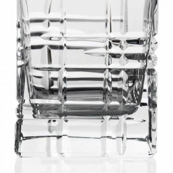 2 botellas de whisky con tapón de diseño cuadrado decorado con cristales - Arritmia