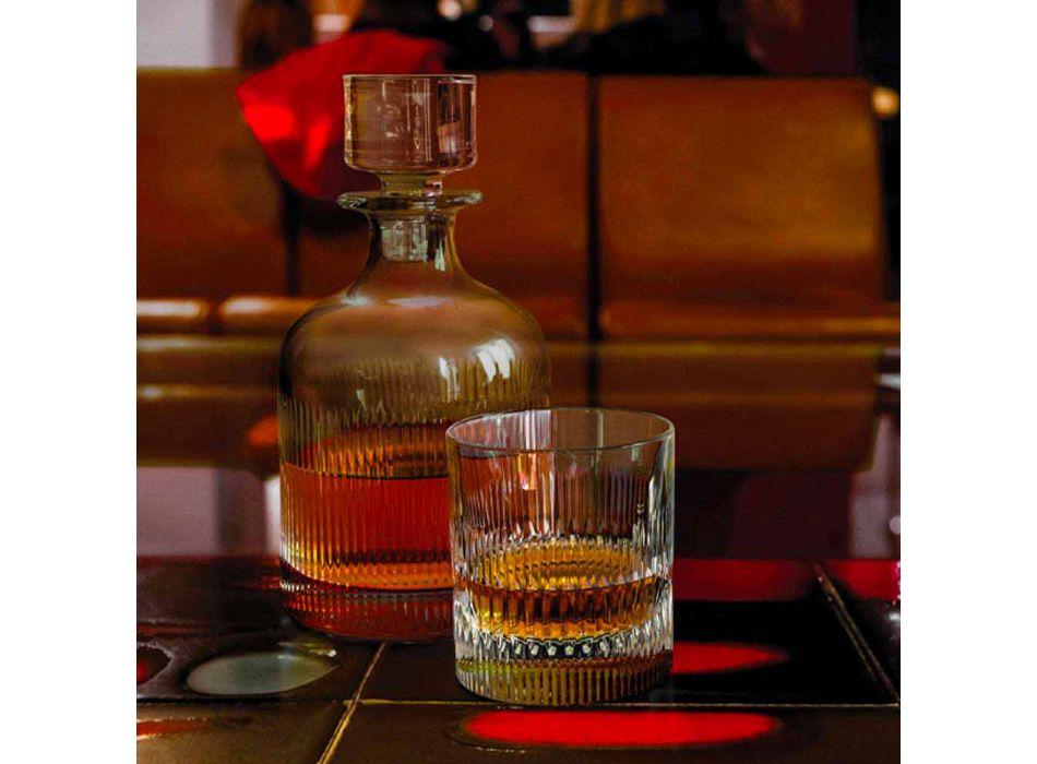 2 Botellas de Whisky con Tapa de Cristal Ecológica Diseño Vintage - Táctil
