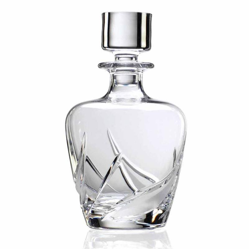 2 botellas de whisky de cristal con tapón de diseño decorado de lujo - Adviento