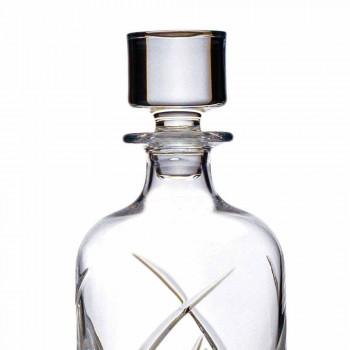 2 Botellas de Whisky con Tapa de Diseño Cilíndrico en Eco Crystal - Montecristo
