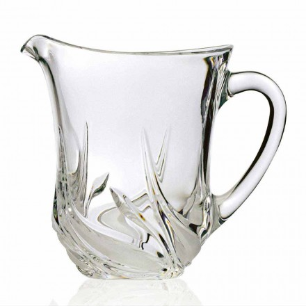 2 jarras de agua de cristal ecológicas con decoraciones de lujo, Made in Italy - Adviento