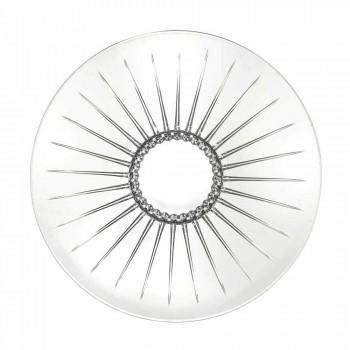 2 Centro de mesa de cristal con sonido superior ultraclaro Lujo y diseño - Senzatempo