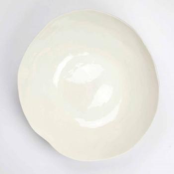 2 ensaladeras de porcelana blanca Piezas únicas de diseño italiano - Arciconcreto