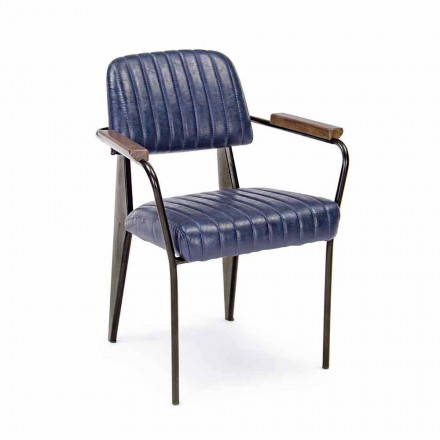2 sillas Homemotion de polipiel efecto vintage con reposabrazos - Clare