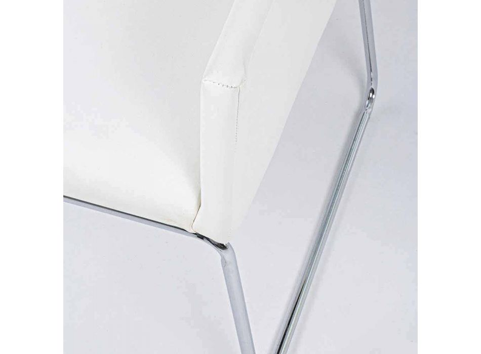 2 Sillas con Reposabrazos Revestidos en Polipiel Diseño Moderno Homemotion - Farra
