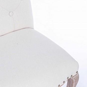 2 Sillas de Comedor con Asiento Tapizado y Tapizado Homemotion - Mania