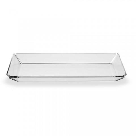 2 Bandeja de entrada de plexiglás de diseño moderno en plexiglás transparente - Tonio