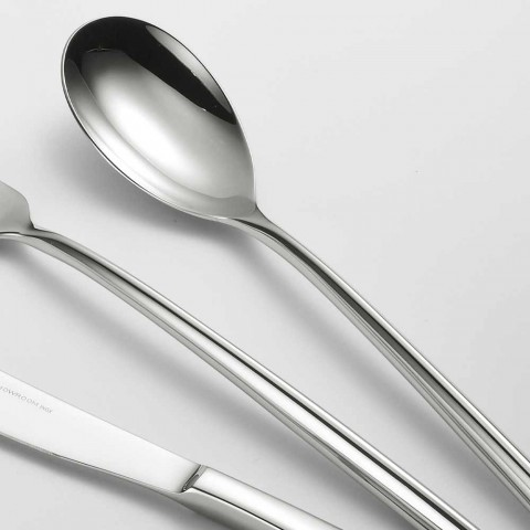 24 Cubiertos de acero pulido Diseño triangular Elegante diseño moderno - Caplin