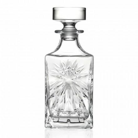 4 botellas de whisky con diseño cuadrado de tapa de cristal ecológico - Daniele