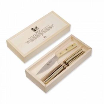 4 cuchillos de mesa Berti Valdichiana en exclusiva para Viadurini - Albiolo