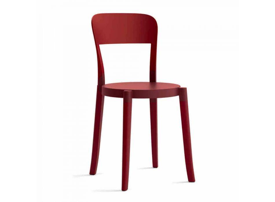 4 sillas de polipropileno apilables para exterior Made in Italy Design - Alexus