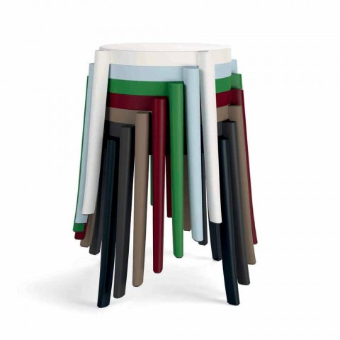 Diseño de 4 taburetes apilables para exterior en polipropileno Made in Italy - Anona