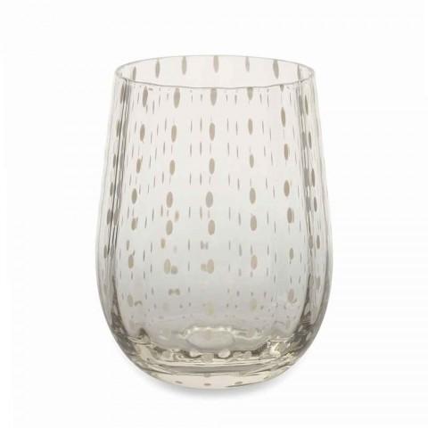 6 vasos de vidrio de colores y modernos para un servicio elegante de agua - Persia