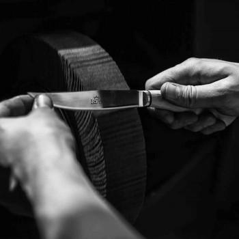 6 cuchillos de carne hechos a mano en cuerno o madera Made in Italy - Zuzana