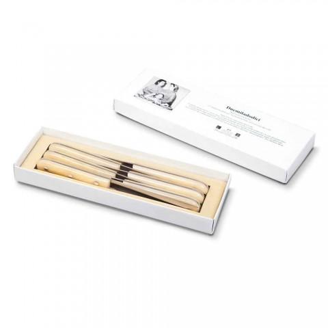 6 Cuchillos de Mesa 2012 Berti Acero Inoxidable Exclusivo para Viadurini - Annico