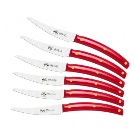 6 cuchillos de mesa Made in Italy, Berti en exclusiva para Viadurini - Alserio