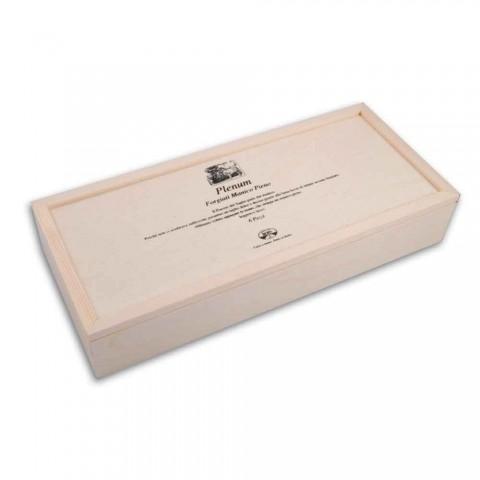 6 Cuchillos Berti Plenum de hoja lisa exclusivos para Viadurini - Andalo