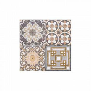 6 manteles individuales rectangulares de diseño americano en PVC y poliéster - Dimetra