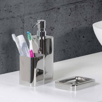 Accesorios de baño independientes en acero inoxidable con acabado cromado - Brillante