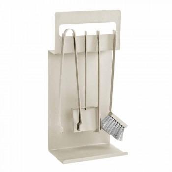 Accesorios para chimenea en acero coloreado Made in Italy 4 piezas - Rachel