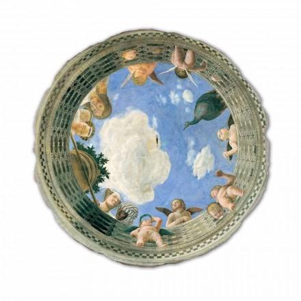 Fresco Andrea Mantenga Oculo con Putti e Dame Affacciati