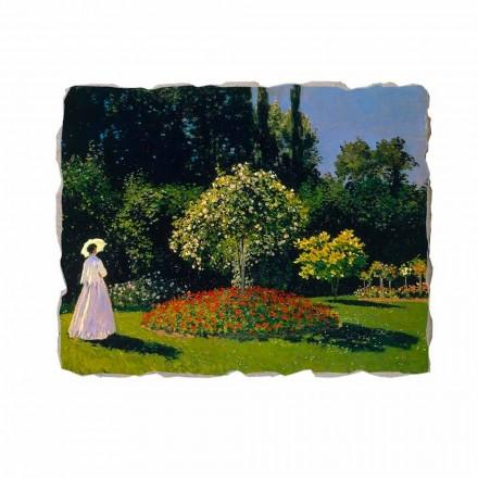 Fresco Claude Monet, Señora en el jardín de perfíl