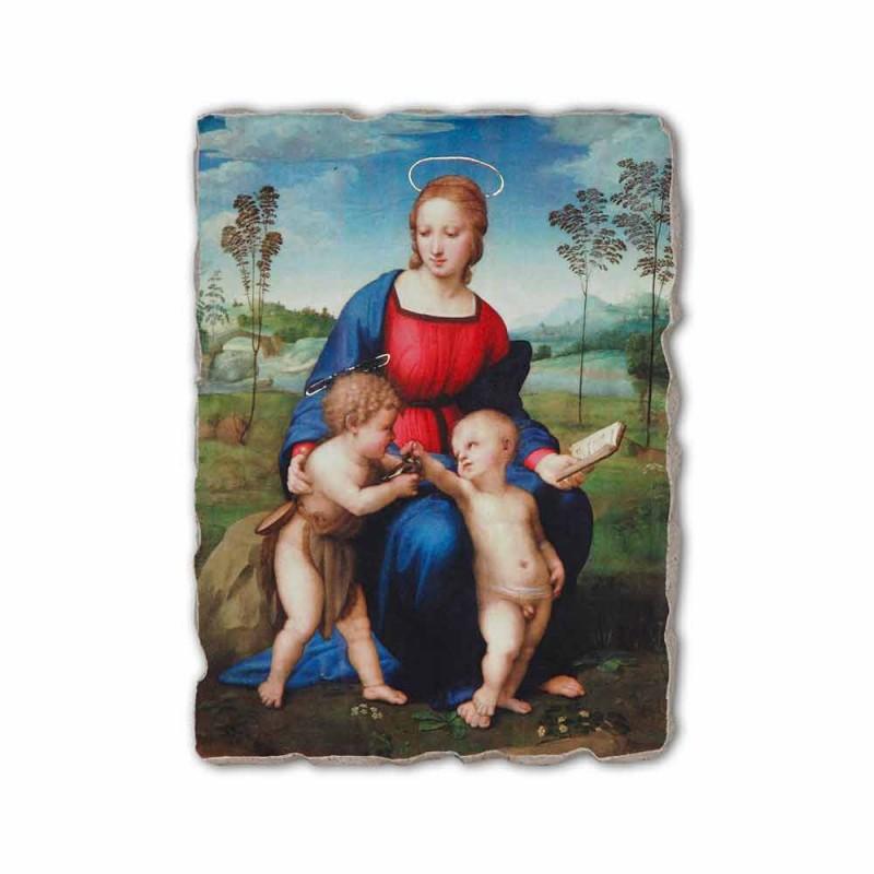 "Fresco hecho a mano Raffaello Sanzio ""Virgen del jilguero"""