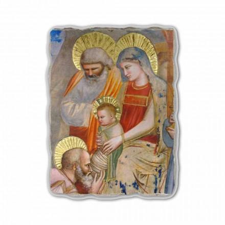 Fresco Giotto, Adoración de los Reyes Magos, hecho en Italia