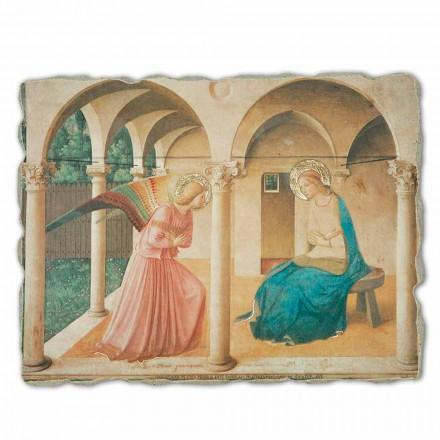 Fresco La Anunciación de Beato Angelico hecho en Italia