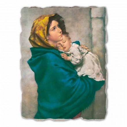 Fresco grande Ferruzzi Virgen Gitana hecho a mano en Italia