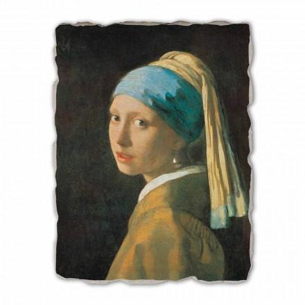 Fresco grande hecho a mano Vermeer, Muchacha con turbante