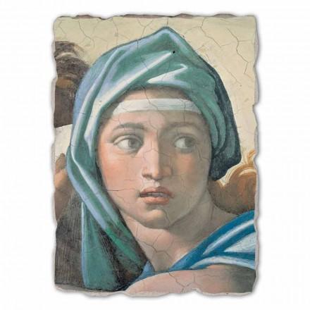Fresco grande Michelangelo Sibila Délfica hecho en Italia