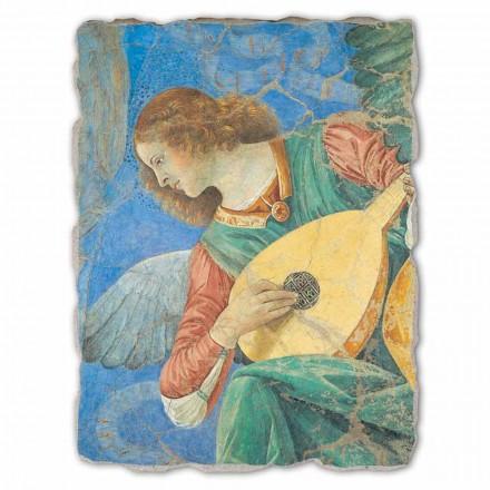 Fresco grande Melozzo da Forlì, Ángel con laúd hecho a mano