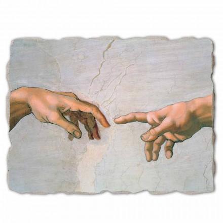 Fresco grande Michelangelo Creación de Adán-fragmento