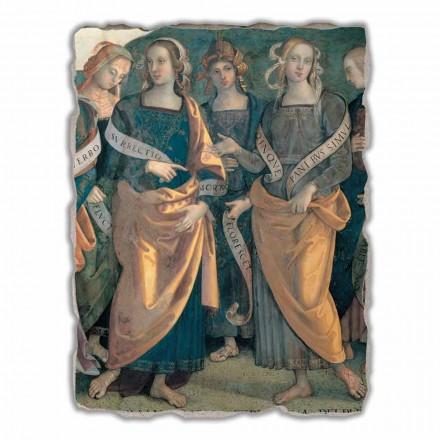 Fresco grande Perugino Eterno tra Angeli, Profeti e Sibille
