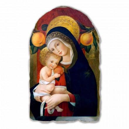 Fresco reproducción Carlo Crivelli, Virgen con niño siglo XV