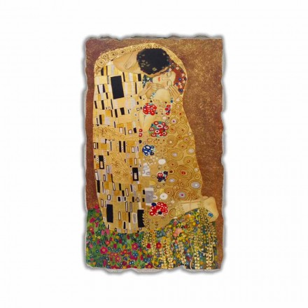 Fresco reproducción Gustav Klimt, El beso hecho a mano