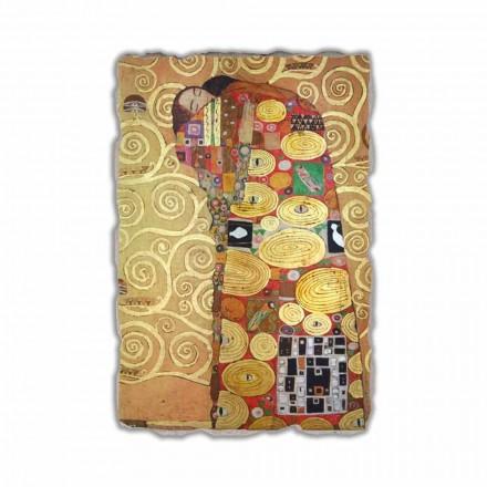 Fresco reproducción Gustav Klimt, El abrazo, hecho en Italia