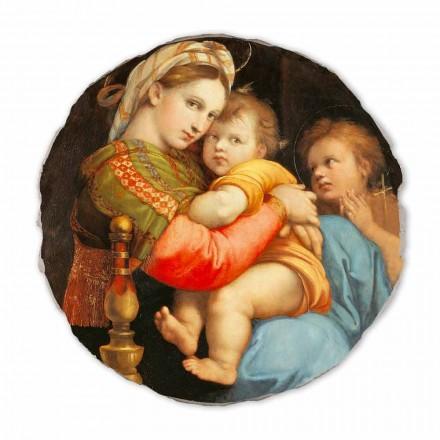 Fresco reproducción Raffaello Sanzio, Virgen de la silla