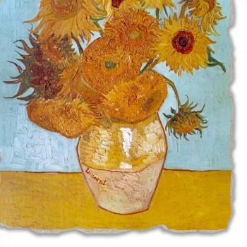 """Fresco reproducción Vincent van Gogh de """"jarrón de girasoles"""""""
