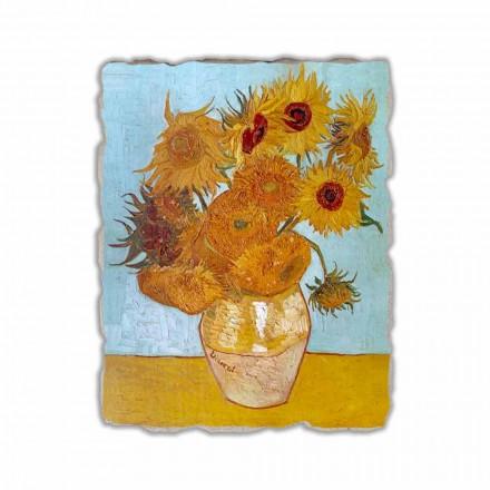 Fresco reproducción Vincent Van Gogh, Jarrón con girasoles
