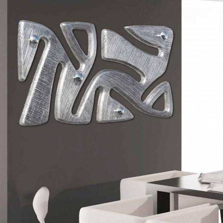 Que cuelga de la pared decorado con diseño de la mano en hoja de plata Holt
