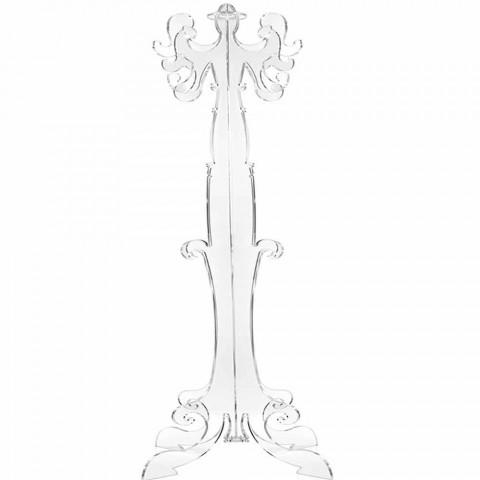 Perchero de pie, diseño clásico, en plexiglás Giave