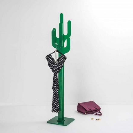 Perchero de diseño moderno verde cactus, hecho en Italia