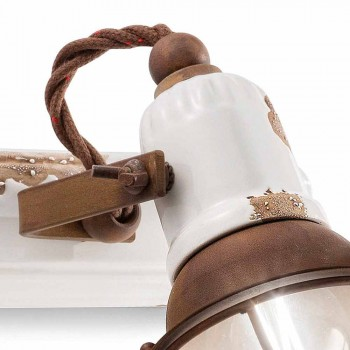 Applique dos focos artesanías Amelia Ferroluce