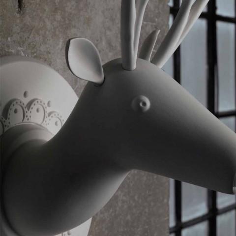 Aplique de pared de diseño moderno de cerámica blanca mate en Cervo - Memento